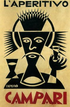 Fortunato Depero, Campari advertisement, 1928