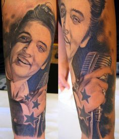 Tattoo by Xavier Garcia Boix, one of my favorite tattoos of Elvis I have ever seen!