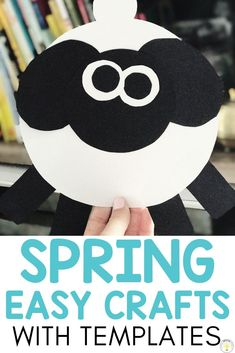 Looking for fun and easy spring crafts for kids? I have you covered! These printable craft templates include a bunny, chick, sheep, tulip, ant, snail, nest, butterfly, umbrella, rainbow caterpillar, ladybug, bird, bumblebee, frog, daffodil and kite. Use your students artwork for cheap mothers day cards and gifts! These lessons are suitable for toddlers, preschool, kindergarten, and special education. Writing activities included! #springcrafts #kidcrafts