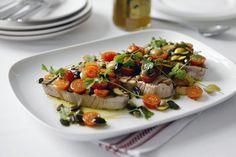 Marco Pierre White's grilled tuna steaks `a la Niçoise' recipe