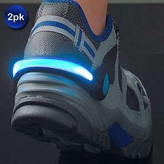 girls for camping, lisa: 2 Pack: Night Runner LED Light Shoe Clip - 3 Colors