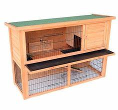 Wooden Chicken Hen Coop Rabbit Hutch House Habitat Wood Small Animal Cage