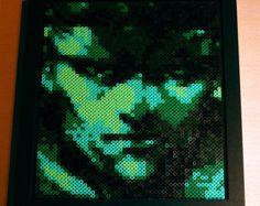 Solid Snake Bead Art Portrait