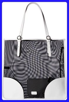 44f18461edf9b Frances Valentine Women s FV Perforated Mesh Tote Black Bone Handbag -  Totes ( Amazon Partner-Link)