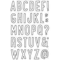 Jordan Alphabet Stamp - Outline
