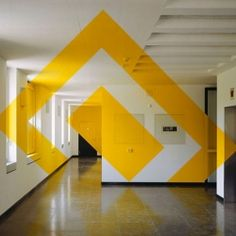 Using a technique called anamorphosis, Felice Varini creates optical illusions that can only be seen in their entirety from a certain angle