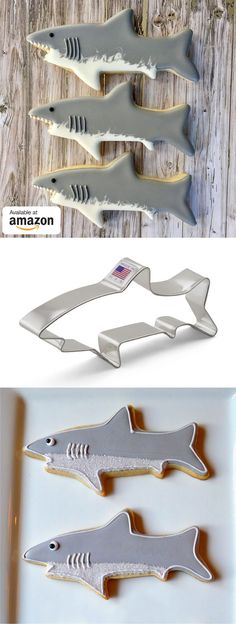 Shark cookie cutter perfect for shark week! These are Prime and Smile so you can get them before the week is over and contribute to your charity of choice! Advert.