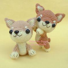 Etsy の Shiba Inu Puppy PDF Crochet Pattern by jaravee - Amigurumi Quick Crochet, Basic Crochet Stitches, Cute Crochet, Crochet Crafts, Crochet Projects, Crochet Amigurumi, Amigurumi Patterns, Crochet Dolls, Crochet Yarn