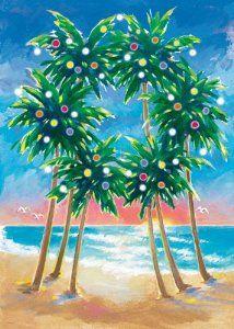 Palm Wreath by Margo Goodwill . Purple Christmas Tree, Tropical Christmas, Christmas Rock, Beach Christmas, Coastal Christmas, Christmas In July, Vintage Christmas, Christmas Crafts, Christmas Decorations