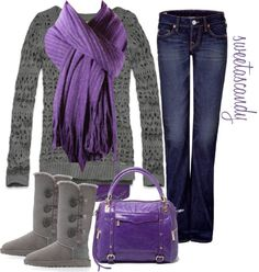 """purple and grey"" by sweetlikecandycane on Polyvore"