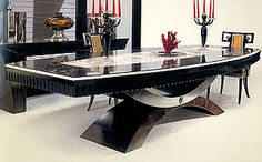 Dining Tables - ONYX MACASSAR F501 DINING TABLE