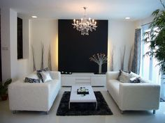 black accent wall in the living room - Yahoo Search Results Yahoo Image Search Results