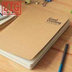 Sewing & glued Sketchbook 114 Sheets white drawing paper & kraft paper 2 sizes #ZIG