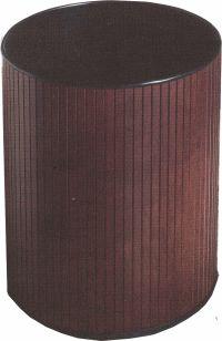 Round Hardwood Wastebasket 24 Quart with Steel Liner Wood Trash Can, Trash Containers, Kitchen Trash Cans, Paper Tray, Desk Pad, Wood Desk, Pencil Holder, Hampers, Solid Oak