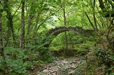 Νομός Ιωαννίνων - Γεφύρι Βράγγαλη ή Δρογάρη - Καστανώνα - Δραγαριστιανός λάκκος παραπόταμος του Βάρδα
