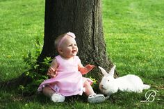 Babys first easter  LOVE THIS PICTURE!!!! I will have to do this with Blizzard this Easter!!!!  LOVE IT!!!!
