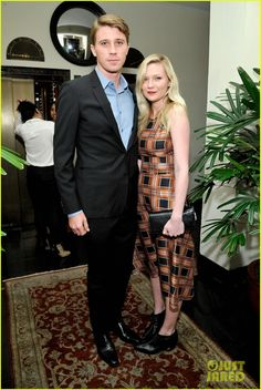 Garrett Hedlund and Kirsten Dunst - At a Pre-Golden Globes party at the Chateau Marmont in West Hollywood, California.  (January 9, 2014)