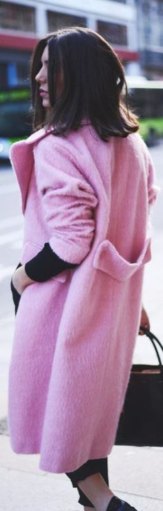 #Pink #Long #Coat by The Fashion Through My Eyes