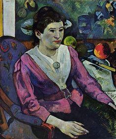 Paul Gauguin, Portrait de femme à la nature morte de Cézanne, 1890