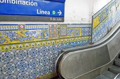 Subway Tiles, Buenos Aires    The subway in Buenos Aires is one of the most interesting you'll find. Many stations are done up in specific motifs, with elaborate tilework. At Independencia station in the San Telmo neighborhood, the tilework is a geometric arabesque that looks straight from one of the mosques of Fez.
