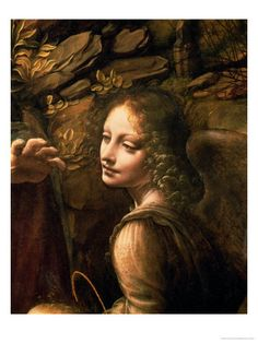 Leonardo DaVinci  The Virgin of the Rocks  (The Virgin with the Infant St. John Adoring the Infant Christ)
