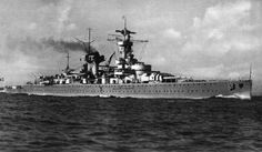 German heavy cruiser KMS Deutschland, the lead ship of her three class of ships...the other two were: Admiral Graf Spee and Admiral Scheer.