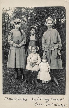 Four children pose with a large doll | Flickr - Photo Sharing!