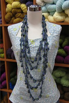 Silken Straw Necklace by Dolin Bliss O'Shea