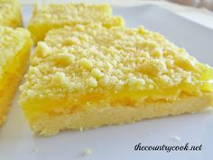 The Country Cook: Easy Lemon Crumble Bars