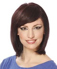 View and try on this Medium Straight Formal Bob Hairstyle - Medium Brunette (Plum).