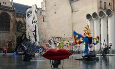 paris urlaub tipps Graffiti Der Strawinski Brunnen Igor Strawinski Platz