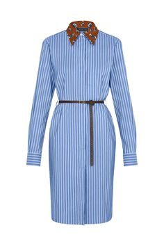 Belted Shirt Dress With Printed Collar - Ready-to-Wear Ropa Louis Vuitton, Louis Vuitton Dress, Kpop Fashion Outfits, Fashion Dresses, Denim Outfits, Classy Outfits, Lawyer Fashion, Louis Vuitton Collection, Flatlay Styling