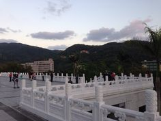 Outside the National Palace Museum.