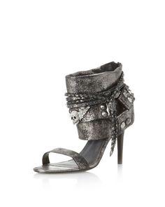 Zadig & Voltaire Women's Pam Cuffed Sandal [Black Gunmetal] | Women Own Styles on Sale - Women.OwnStyles.com