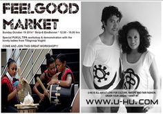 U-HU at FeelGood Market!!  When: Sunday October 19 2014 Where: Feel Good Market * Strijp-S Eindhoven Time: 12.00 - 18.00 hrs Entrance: free!... Meer weergeven — met Ghilaine Rumahlaiselan en 2 anderen.