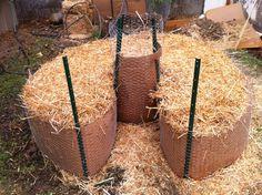 straw bale keyhole garden                                                                                                                                                                                 More