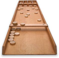 Shuffle Board. My husband's family taught us this game! We recently inherited the family board. We are so grateful for the gift!: