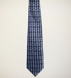 STONEHENGE Mens Blue Geometric 100% Silk Dress Necktie Neck Tie 60in #Stonehenge #Tie