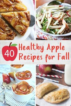 Stock up on apples during peak season for these healthy and tasty apple recipes including breakfasts, snacks, desserts and more! Quick Healthy Desserts, Healthy Breakfast Recipes, Healthier Desserts, Apple Recipes, Fall Recipes, Christmas Recipes, Paleo Apple Crisp, Can I Eat, Recipe For Mom