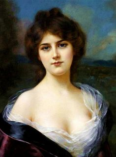 Abbey Alston (1864 – 1949)  A Young Beauty
