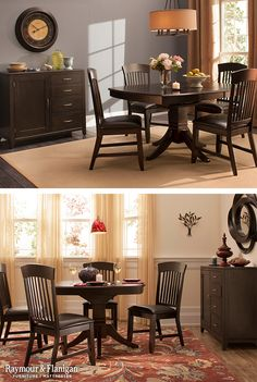 This new Everdeen Collection will make your dining room a welcoming place to gather with family and friends thanks to the easy-to-clean leather-look upholstery and self-storing table leaf! This dining set is also available as a counter-height table.