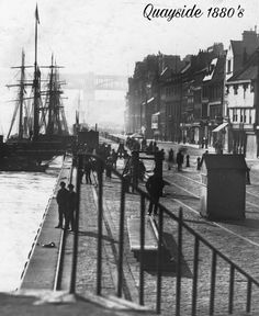 Newcastle Quayside 1880's Old Pictures, Old Photos, Blaydon Races, Newcastle Quayside, Local History, Family History, Newcastle Gateshead, Northumberland England, North East England