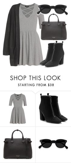 """""""Outfit #1801"""" by lauraandrade98 on Polyvore featuring moda, Topshop y Burberry"""