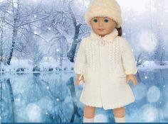 Doll Coat Pattern 18 inch doll Winter Coat fits American