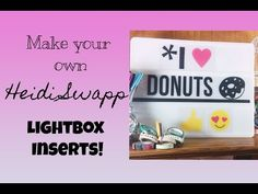 Showing how you can make your own Heidi Swapp Lightbox using an electonic cutter, vinyl and acetate. Mini Lightbox, Lightbox Letters, Diy Home Decor Projects, Projects To Try, Craft Projects, Licht Box, Craft Tutorials, Craft Ideas, Light Board