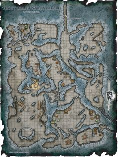 Fantasy Maps by Robert Lazzaretti | Frost Giant Stronghold: Map#1