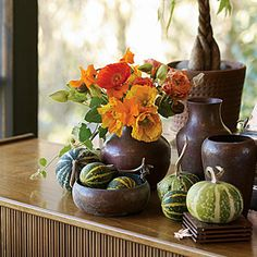 13 easy pumpkin arrangements | Mixed greens | Sunset.com