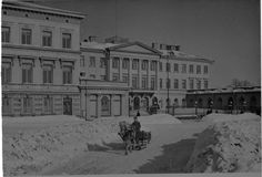 The President's Palace Night Shadow, The Old Days, Historical Pictures, Helsinki, Ancient History, Finland, 1930s, Norway, Palace