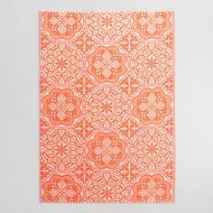 6'x9' Orange Gabriella Indoor Outdoor Rio Floor Mat - v1