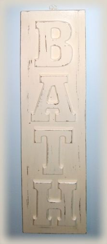 Hobby Lobby letters and scrap wood, painted and sanded -- so many possibilities